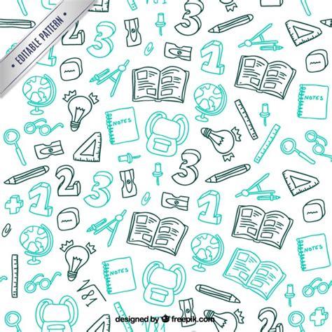 vector pattern hand drawn hand drawn school material pattern vector premium download