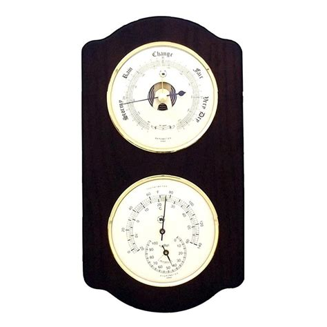 wall mount weather station with clock barometer