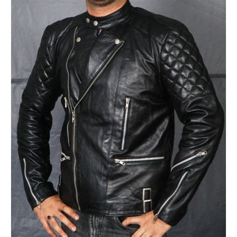 bike leathers brando black biker leather jacket ultimofashions