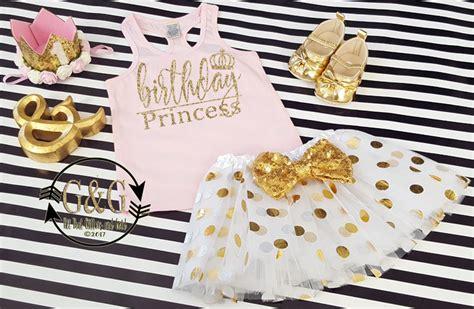 Princess Azkana 2 Gold Dnt pink and gold glitter birthday princess tutu with crowns