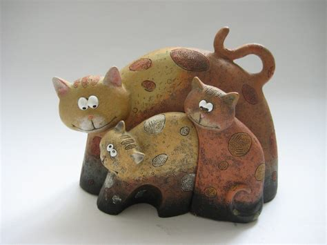 Cat Handmade - handmade resin cat statue