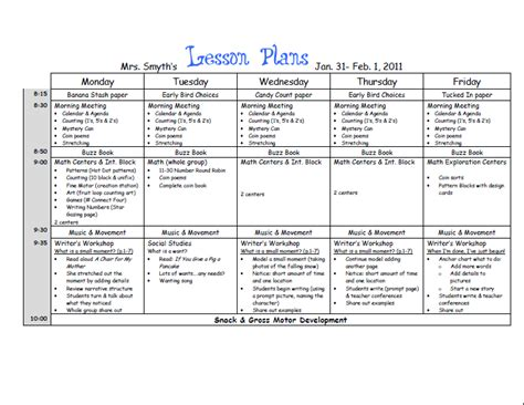 lucy calkins lesson plan template search results