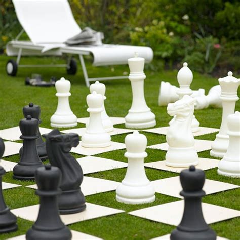 backyard chess garden lawn with chessboard modern garden design ideas