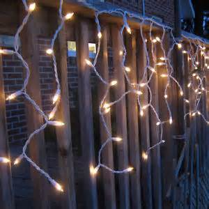 warm white led icicle lights outdoor christmas xmas