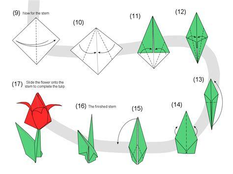 tutorial origami tulip 233 s a sz 225 ra origami pinterest origami diagram