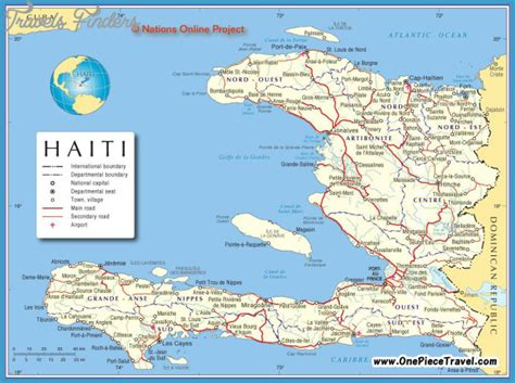 haiti on map haiti map tourist attractions travelsfinders
