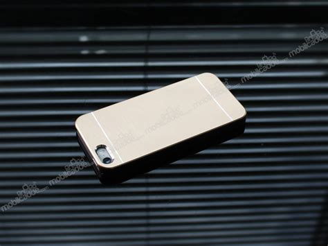 Motomo Iphone motomo iphone se 5 5s metal gold rubber k箟l箟f