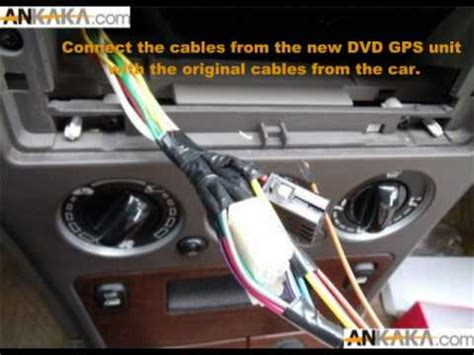 how to install tv in car how to install car dvd gps tv diy youtube