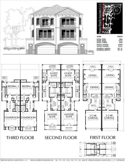 townhouse plan e1005 a1 master bedroom keziah bedroom 3 819 best ideas about home floorplans condos on pinterest