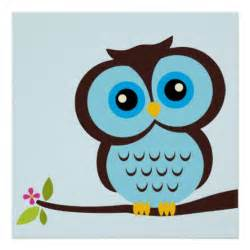 Owl children s wall art posters zazzle click for details cute owl