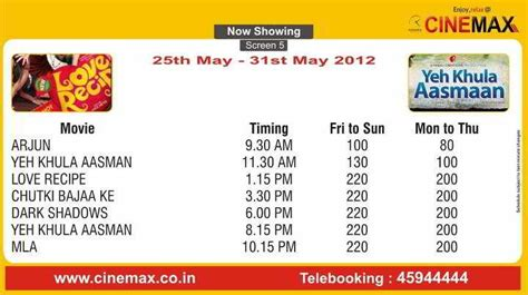 cinemaxx schedule movie screening schedule 25 may to 31 may 2012 cinemax