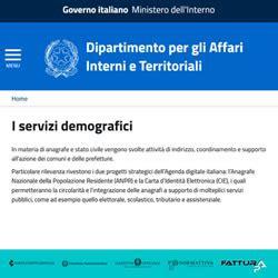ministero dell interno servizi demografici i servizi demografici dipartimento per gli affari