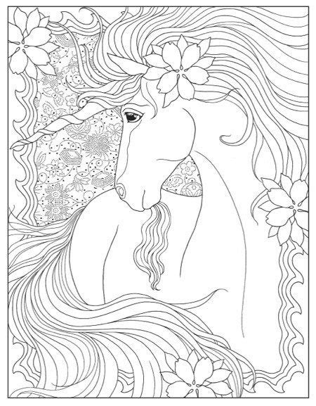 Creative Haven Unicorns Coloring Book (With images