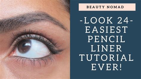 pencil eyeliner tutorial youtube how to do eyeliner with a pencil easiest tutorial for