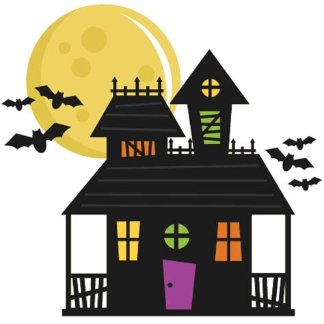 Haunted House Clipart by Haunted House Svg Cut File Haunted House Svg File Haunted