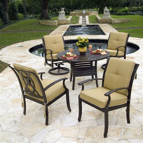 Target Patio Dining Set Woodard Cushion Target Back Patio Dining Set Seats 4 At Hayneedle