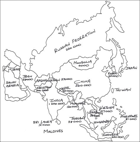 middle east map coloring pages best photos of asia map coloring page blank asia map
