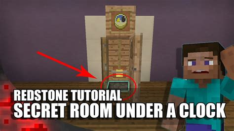 how to make a secret room in minecraft pe minecraft secret room underneath a clock funnycat tv