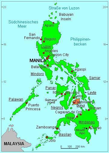 wo liegen die philippinen bohol wetter klima taifune und jahreszeiten