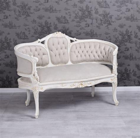 shabby chic white sofa samtsofa antik sofa shabby chic bench velvet white rokoko