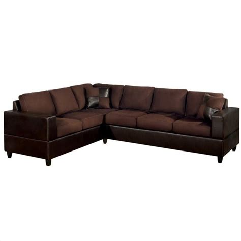 poundex sectionals poundex bobkona trenton 2 piece sectional with accent