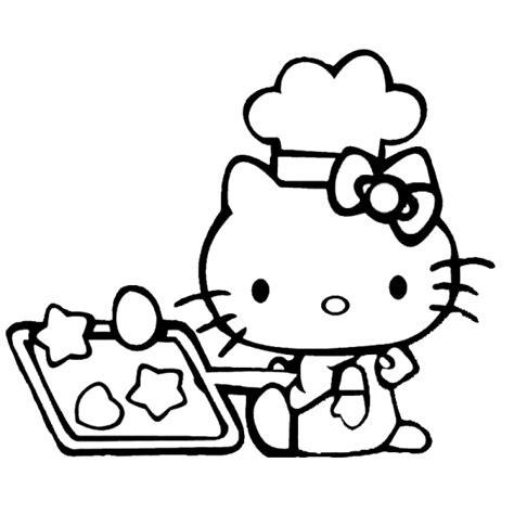 cucina di hello disegno di hello in cucina da colorare per bambini
