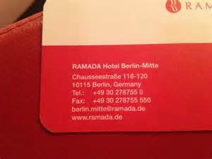 business card hotel the business card of the hotel picture of ramada hotel