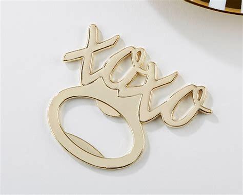 My Bottle Xoxo xoxo gold bottle opener my wedding favors