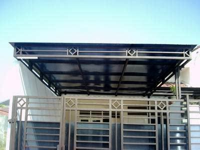 design canopy minimalis desain pagar besi railing balkon kanopi teralis pagar besi