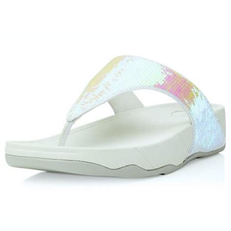 Sandal Wedges Terlaris New Fitflop Glitter fitflop electra womens glitter toepost sandals iridescent white womens from scorpio