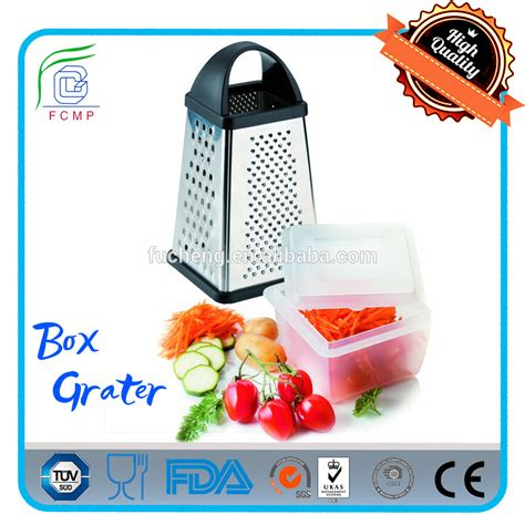 Promo 4 Way Grater Stainless Steel Parutan 4 Sisi Mutu Gts 48 multi purpose 4 way stainless steel manual box grater with container buy box grater stainless
