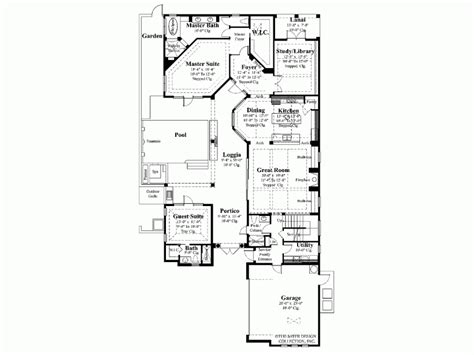 Single Level House Plans With Courtyard House Plans And Design House Plan Single Story With Courtyard