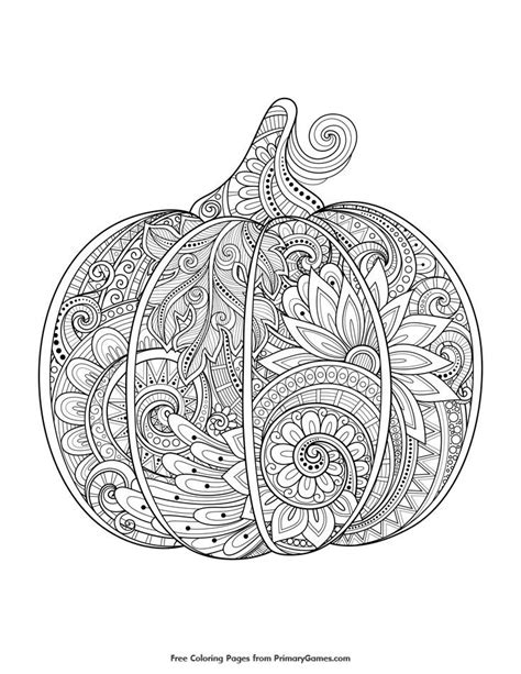 detailed pumpkin coloring page 341 besten i love coloring bilder auf pinterest