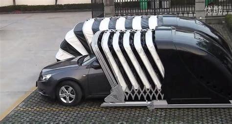Garage Design Works chinese company invents cocoon garage that wraps around