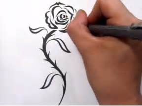 rose tattoos drawing a cool tribal tattoo design youtube