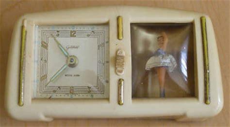 antique goldbuhl dancing ballerina alarm clock florin