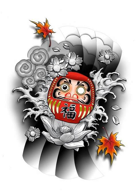29 simple daruma doll tattoos