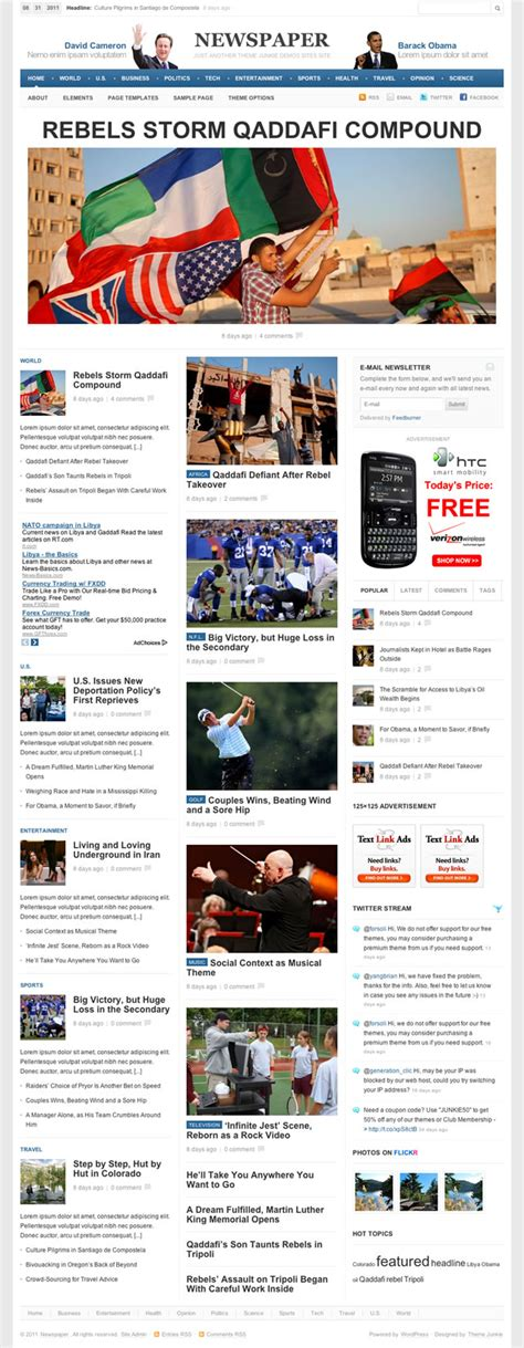 theme junkie newspaper download newspaper 1 0 theme released theme junkie