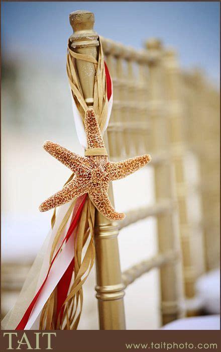 Beach ceremony decor: DIY starfish raffia   Display