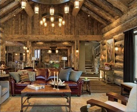 log cabin great room pictures amazing great room in log home in bozeman montana