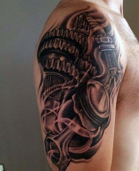 upper arm tattoo ideas for men 60 piston designs for unleash high horsepower