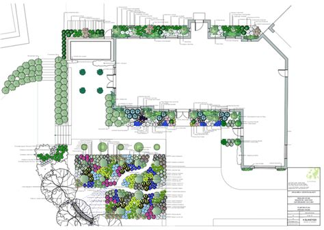 plant nursery layout design garden designer justin spink planting plan and schedules
