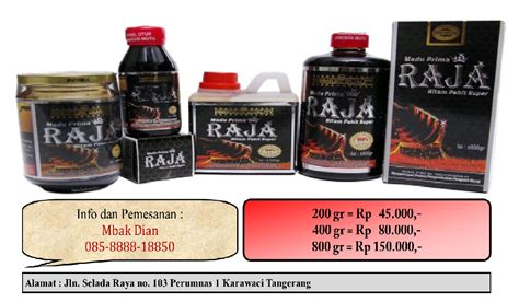 Madu Prima Raja Hitam Pahit 200gr Berkualitas harga 800 gram rp 150 000 disc 10 beli 2 botol