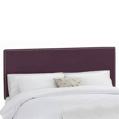 purple headboard queen purple upholstered headboard bellacor