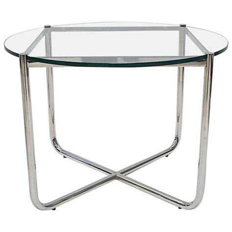Mies Coffee Table Knoll Studio Ludwig Mies Der Rohe Glass And Chrome Mr Coffee Or Cocktail Table At 1stdibs
