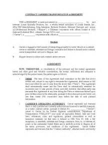 transportation contract template 2 free templates in pdf