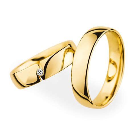 Paar Ringe Gold Günstig by Christian Bauer Wedding Rings 18 Carat Yellow Gold 1
