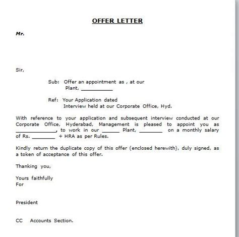 simple appointment letter format template collection