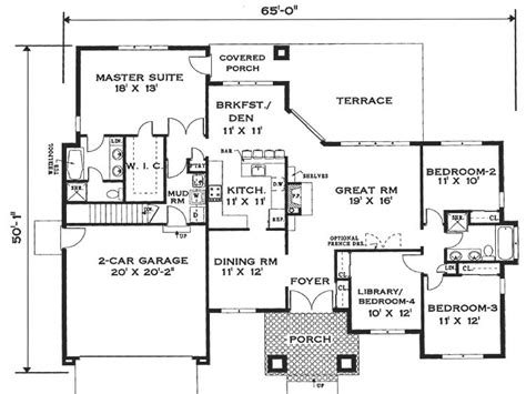 Single Floor Home Plans by Simple One Story House Floor Plans Small One Story House