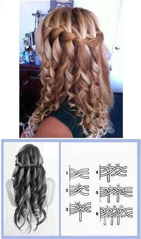 waterfall braid wedding hair step by step a great way for making curly hair waterfall braid hair